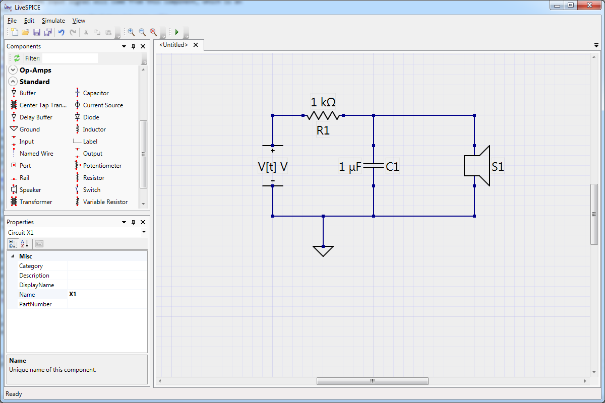 Livespice Schematic Capture Spice Simulator And Waveform Viewer Via Complete Rc Low Pass Filter